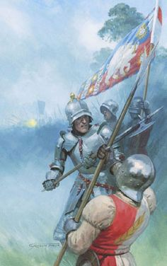 Medieval and Military Art by Graham Turner - Original Tewkesbury Medieval Festival Poster Paintings Medieval Knight, Medieval Armor, Battle Of Bosworth Field, Graham Turner, Festival Paint, Crusader Knight, Wars Of The Roses, Silver Surfer, Festival Posters