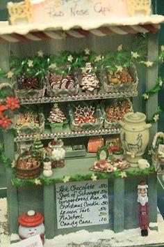 Feux d/'artifice Shop counter display maison de poupées miniatures