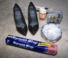 DIY glitter heels.