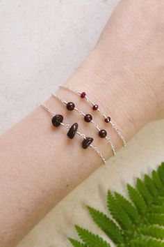 Did you know that deeply delicious red gemstone garnet is used for regeneration – making it a perfect January birthstone? I love wearing garnet in my new beaded chain bracelet. How do you like wearing the transformation stone? Red Gemstones, Zodiac Star Signs, Birthstones, Garnet, Gemstone Jewelry, January, Boho, Chain, Bracelets