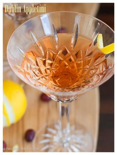 Dublin Appletini Cocktail is fresh, fun way to welcome St. Patty's Day and spring with a splash of Irish Whiskey, Sour Apple Schnapps and cranberry juice.- A Healthy Life For Me
