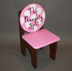 Time Out Naughty Chair in Pink and Brown with White Spots
