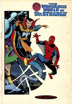 Doctor Strange and Spidey by Paul Smith, colours by Gerry Turnbull