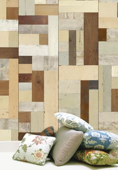 Scrapwood Walls [PHE-06-WOOD] : Designer Wallcoverings, Specialty Wallpaper for Home or Office