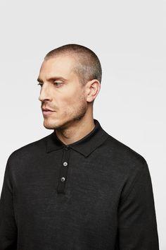 Image 4 of LONG SLEEVE KNIT POLO SHIRT from Zara Polo Shirt, T Shirt, Gifts For Dad, Zara, Knitting, Long Sleeve, Sleeves, Mens Tops, Image