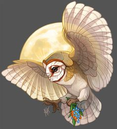 Harvest Moon by on DeviantArt Watercolor Paintings Of Animals, Cool Paintings, Poses Manga, Owl Tat, Owl Illustration, Illustrations, Owl Moon, Cute Galaxy Wallpaper, Anime Animals