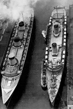 Normandie and Queen Mary