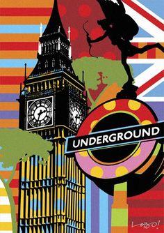 Poster para imprimir pop art - Londres - Blog Dikas e diy