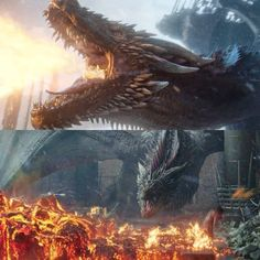 Drogon mourns and burns iron throne Got Dragons, Game Of Thrones Dragons, Mother Of Dragons, Game Of Thrones Poster, Game Of Thrones Tv, Fantasy Creatures, Mythical Creatures, Do Fantasy, The Winds Of Winter