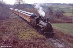 This photo shows the Arcade & Attica Railroad steam locomotive pulling  visitors through scenic Wyoming County.  Scheduled train rides available.