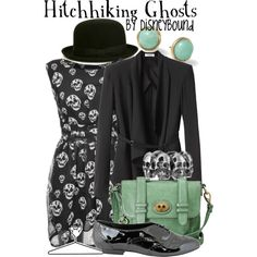 Hitchhiking Ghosts, created by lalakay on Polyvore #disney    I need this dress...hmmm conflicted. is it too juvenile though?