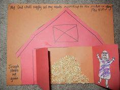 Joseph interprets pharaoh a dreams of famine and storing up grain craft