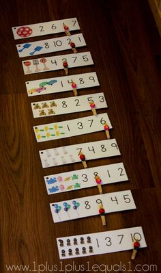 Preschool Math Printables- free