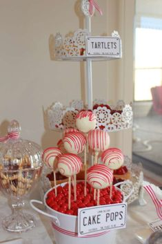 RED and white Kombi Van Birthday Party Ideas | Photo 22 of 51 | Catch My Party