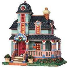 Lemax Village Collection  Christmas Village Building, Porcelain Lighted House Whitley Residence With 6 Foot Cord
