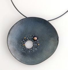 Aperture Pendant: Sydney Lynch: Gold & Silver Necklace - Artful Home