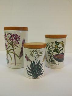 3pc Vintage Portmeirion Pottery Botanic Garden Canister Set Older Mark Aloe | eBay