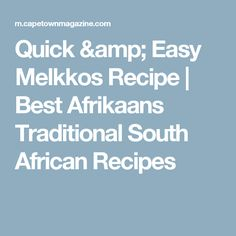 Quick & Easy Melkkos Recipe | Best Afrikaans Traditional South African Recipes