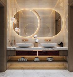 Modern Luxury Bathroom, Contemporary Bathroom Designs, Bathroom Design Luxury, Luxury Master Bathrooms, Wc Design, Toilet Design, Cafe Design, Washroom Design, Bathroom Mirror Design