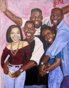 """keenanbakercomedy: """"jazzybuttafly: """" My painting of the Martin cast, acrylics on canvas ) """" Still one of the greatest shows of all time! Black Love Art, Black Girl Art, Black Is Beautiful, Black Girl Magic, Art Girl, Black Tv, Black Girls, Black Cartoon, Cartoon Art"""