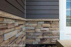 Plum Creek Versetta Stone Siding with Rich Espresso James Hardie Siding