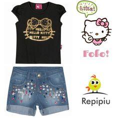 Boa tarde mamães! Fofo demais esse look né?!  Temos ele e muito mais disponível na nossa loja!  www.repipiubaby.com.br @repipiubaby !  WhatsApp 11 99239-2469  #bebê #criança #modainfantil #baby #kids #adorable #cute #babystyle #fashion #fashionkids #look #lookinho #lookdodia #forgirls #bags #babywearing #babywear #kidsfashion #almofadas #babadores #promocao #maternativa #hellokitty #amohellokitty