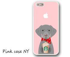iPhone 6/ 6S/ 6plus/ 6S plus, iPhone 5/ 5S/ 5C, iPhone 4/ 4S, iPhone SE - I love Starbucks - Weimaraner by PinkCaseNY on Etsy https://www.etsy.com/listing/277669666/iphone-6-6s-6plus-6s-plus-iphone-5-5s-5c