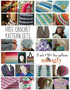 Better Together: Great Free Crochet Pattern Sets for Gift Giving! - pattern roundup on moogly! Crochet Round, Crochet Squares, Easy Crochet, Crochet Stitches, Crochet Baby, Free Crochet, Knit Crochet, Afghan Crochet, Crochet Braids