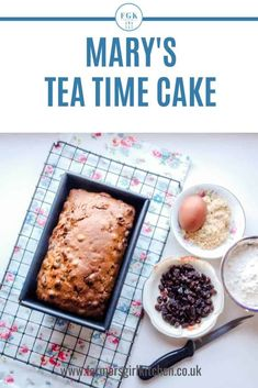 Mary Berry's Tea Time Cake is just what you would expect from the Queen of Cakes, it's easy to make and it turns out perfectly every time #maryberry #cake #simple #recipe Diabetic Cake Recipes, Delicious Cake Recipes, Tart Recipes, Yummy Cakes, Snack Recipes, Dessert Recipes, Kitchen Recipes, Bread Recipes, Desserts