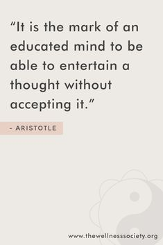 Inspirational quote from Aristotle. Click to see how The Wellness Society can help you understand and enhance your mental wellness. #wellnessquotes #wellnessinspiration #personaldevelopment #positivequotes