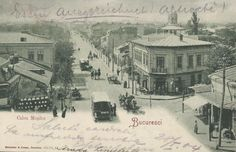 Bucuresti - Calea Mosilor - 1904 Bucharest Romania, Old City, Timeline Photos, Vintage Photographs, Old Pictures, Time Travel, Memories, World, Places