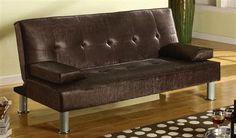 Korb Chocolate PU Leather Adjustable Sofa