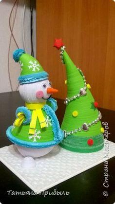 Поделка изделие Новый год Квиллинг Новогодняя поделка в детский сад Бумага фото 2