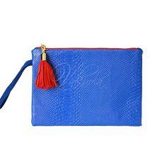 Bolso azul eléctrico