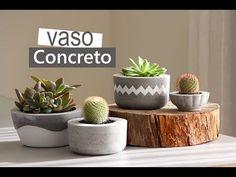 Vaso de concreto, uma super tendência que você pode fazer aí na sua casa e o…