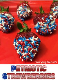 Your Jubilee: 4th of July Frafting. Forth of July Chocolate dipped strawberries.