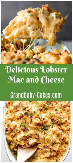 This Lobster Mac and Cheese recipe features a creamy decadent sauce made with four cheeses and tender chunks of lobster baked together with pasta to gooey perfection. Lobster Mac N Cheese Recipe, Best Mac N Cheese Recipe, Lobster Bake, Best Mac And Cheese, Macaroni Cheese, Cheese Recipes, Seafood Recipes, Dinner Recipes, Cooking Recipes