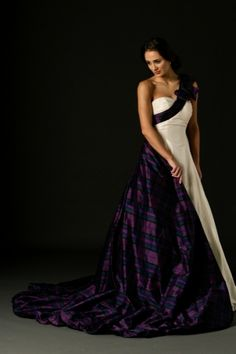 I don't wear dresses but this isbeautiful!....Tartan Spirit Couture wedding dresses & dresses for bridesmaids, mothers of the bride are perfect for Celtic themed weddings.
