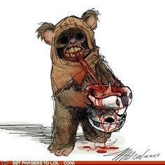 No one can say that Ewoks are just cute from this.
