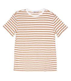 ShopBazaar T by Alexander Wang Striped Short Sleeve Tee MAIN
