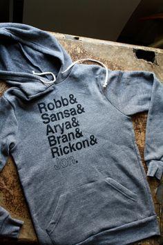 Game of Thrones    Stark Siblings Eco-Fleece Hoodie    Hooded Pullover  Starks Sweatshirt a67bee38e16d3