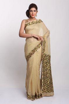 Phulkari Sarees | Georgette Chanderi Net Chinon Chiffon | IndiaInMyBag.com