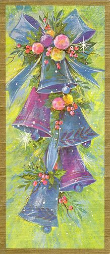 Love these colors! 1970's Christmas Card