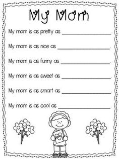 This poem is sure to make mom smile! :)You might also like:Mother's Day Flower Craft Father's Day Poem (freebie). Preschool Gifts, Preschool Projects, Classroom Crafts, Mothers Day Crafts Preschool, Children Crafts, Classroom Ideas, Fathers Day Poems, Fathers Day Crafts, Mother And Father