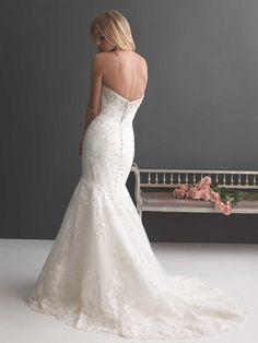 Allure Romance - 2667 - Sample Size 12, Ivory with Silver Accents. Bridal Boutique, 2207 North Belt Hwy, Suite F, Saint Joseph, Missouri, 64506, 816-233-69456