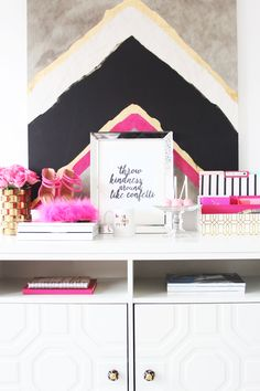 Meagan Ward's Girly-Chic Home Office {Office Tour}