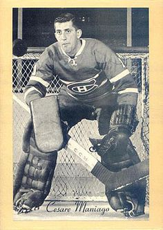 Cesare Maniago with the Montreal Canadiens. Hockey Shot, Women's Hockey, Hockey Players, Montreal Canadiens, Nhl, Hockey Highlights, Minnesota North Stars, Hockey Pictures, Goalie Mask