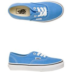 Vans Authentic Shoe ($35) ❤ liked on Polyvore featuring shoes, sneakers, vans, blue, lacing sneakers, blue canvas shoes, canvas shoes, low top canvas sneakers and vans shoes