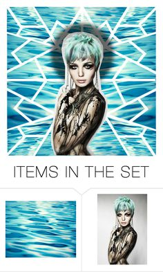 """""""Aqua Queen 💧 my 1st art set 😑"""" by shoaleh-nia ❤ liked on Polyvore featuring art"""