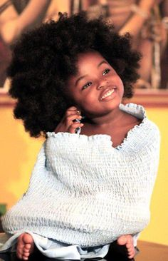 She is soooo cute! You are BEAUTIFUL, just the way you are. kinky, curl, nappy HAPPY and LOVED!!!!
